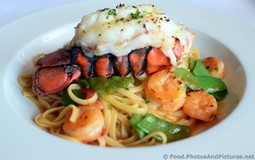 Lobster Tail and Shrimp with Linguine Snow Peas in Sauce Americaine.jpg